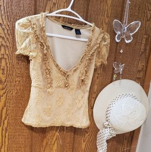 Lace short sleave top